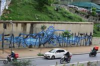 10.12.2019 - Grafite do artista Zezão é vandalizada em SP