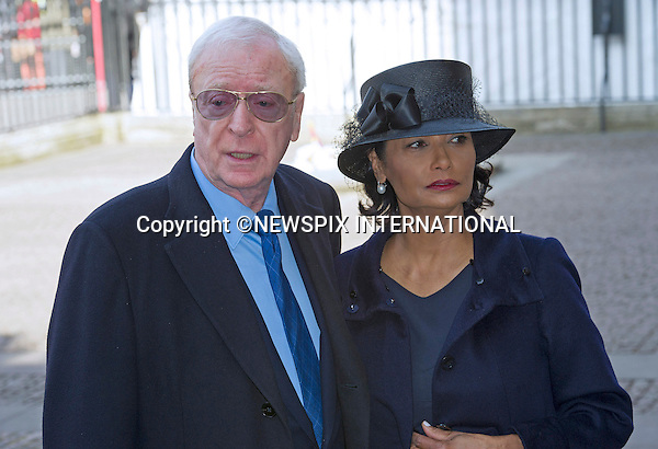 MICHAEL AND SHAKIRA CAINE<br /> attend Sir David Frost Memorial, Westminster Abbey, London_13/03/2014<br /> Mandatory Credit Photo: &copy;Dias/NEWSPIX INTERNATIONAL<br /> <br /> **ALL FEES PAYABLE TO: &quot;NEWSPIX INTERNATIONAL&quot;**<br /> <br /> IMMEDIATE CONFIRMATION OF USAGE REQUIRED:<br /> Newspix International, 31 Chinnery Hill, Bishop's Stortford, ENGLAND CM23 3PS<br /> Tel:+441279 324672  ; Fax: +441279656877<br /> Mobile:  07775681153<br /> e-mail: info@newspixinternational.co.uk