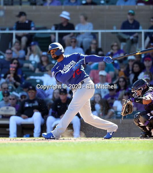 Anthony Garcia - Los Angeles Dodgers 2020 spring training (Bill Mitchell)