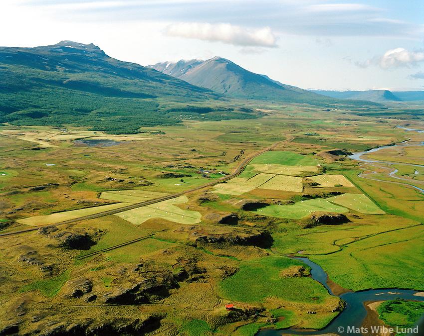 Ketilsstaðir séð til suðurs, Fljótsdalshérað áður Vallahreppur / Ketilsstadir viewing south. Fljotsdalsherad former Vallahreppur.