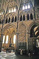 York: York Minster, South Transept, East Wall, Interior. Photo '87.
