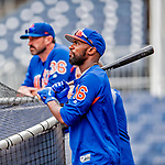 22 September 2018: New York Mets outfielder Austin Jackson watches batting practice prior to a game against the Washington Nationals at Nationals Park in Washington, DC. The Nationals shut out the Mets 6-0 in the 3rd game of their 4-game series. Mandatory Credit: Ed Wolfstein Photo *** RAW (NEF) Image File Available ***