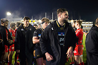 Elliott Stooke of Bath Rugby is all smiles after the match. European Rugby Champions Cup match, between Bath Rugby and RC Toulon on December 16, 2017 at the Recreation Ground in Bath, England. Photo by: Patrick Khachfe / Onside Images