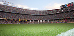 A general view of the Camp Nou Stadium as the teams shake hands before the game. Barcelona v Osasuna (0-1), La Liga, Nou Camp, Barcelona, 23rd May 2009.