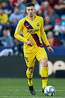 2nd November 2019; Estadi Ciutat de Valencia, Valencia, Spain; La Liga Football, Levante versus FC Barcelona; Clement Lenglet of FCB brings the ball forward - Editorial Use