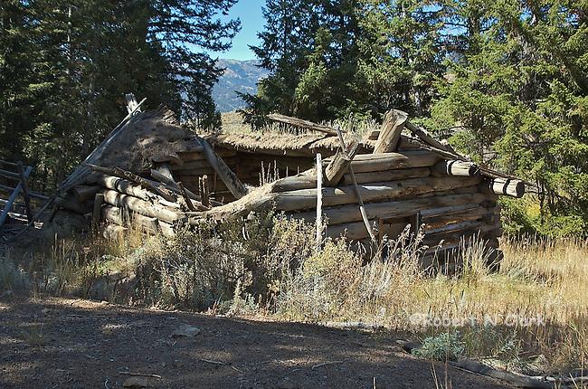 Old log cabin near Squaw Creek