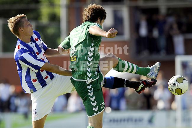 voetbal fc zwolle - sc heerenveen 17-07-2010 oefenwedstrijd seizoen 2010-2011 viktor elm en eric botteghin