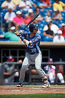 West Michigan Whitecaps designated hitter Joey Morgan (28) at bat during a game against the Quad Cities River Bandits on July 23, 2018 at Modern Woodmen Park in Davenport, Iowa.  Quad Cities defeated West Michigan 7-4.  (Mike Janes/Four Seam Images)
