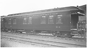 Business car B-3 (2nd) in Salida, CO.<br /> D&amp;RGW  Salida, CO  Taken by Axt, Vernon - 7/1938