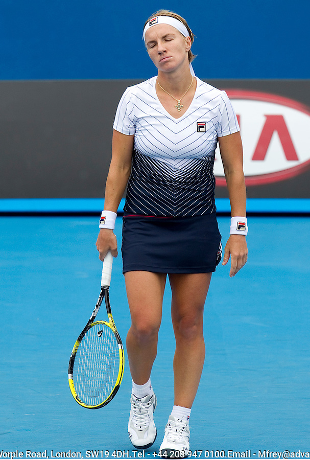Svetlana Kuznetsova (RUS) (23) against Arantxa Rus (NED) in the 2nd round of the women's singles. Svetlana Kuznetsova beat Arantxa Rus  6-1 6-4. ..... .International Tennis - Australian Open  -  Melbourne Park - Melbourne - Day 3 - WED 20th January 2011..© Frey - AMN Images, Level 1, Barry House, 20-22 Worple Road, London, SW19 4DH.Tel - +44 208 947 0100.Email - Mfrey@advantagemedianet.com.Web - www.amnimages.photshelter.com