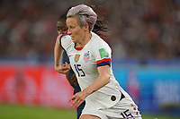PARIS, FRANCE - JUNE 28: Megan Rapinoe #15 during a 2019 FIFA Women's World Cup France quarter-final match between France and the United States at Parc des Princes on June 28, 2019 in Paris, France.