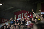 Fleetwood Town 1 Wrexham 1, 10/04/2012. Highbury Stadium, Football Conference Premier. Home supporters in the Memorial Stand cheering their team as Fleetwood Town host Wrexham in a Blue Square Conference Premier match at Highbury Stadium. The match, between the top two teams in the division ended in a 1-1 draw watched by a near-capacity crowd of 4996. A victory for the hosts would have seen the club promoted to the Football League for the first time. Photo by Colin McPherson.