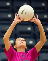NWA Democrat-Gazette/CHARLIE KAIJO Bentonville West High School Jayden Lindsey (15) sets during the girl's volleyball game on Thursday, October 12, 2017 at Bentonville West High School in Centerton.