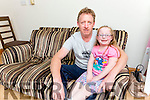 Clodagh O'Shea  with her dad Tim who will be donating his kidney to her in the next few weeks