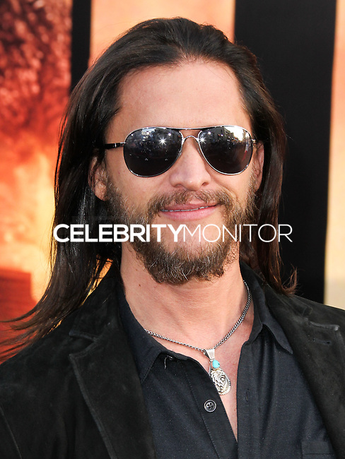 "HOLLYWOOD, LOS ANGELES, CA, USA - MAY 08: Clifton Collins Jr. at the Los Angeles Premiere Of Warner Bros. Pictures And Legendary Pictures' ""Godzilla"" held at Dolby Theatre on May 8, 2014 in Hollywood, Los Angeles, California, United States. (Photo by Xavier Collin/Celebrity Monitor)"
