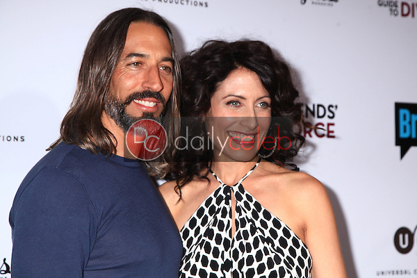 "Robert Russell, Lisa Edelstein<br /> at the ""Girlfriends Guide to Divorce"" Premiere Screening, Ace Hotel, Los Angeles, CA 11-18-14<br /> David Edwards/DailyCeleb.com 818-915-4440"