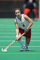 25 August 2007: Xanthe Travlos during Stanford's 2-1 win against the Boston Eagles at the Varsity Field Hockey Turf in Stanford, CA.