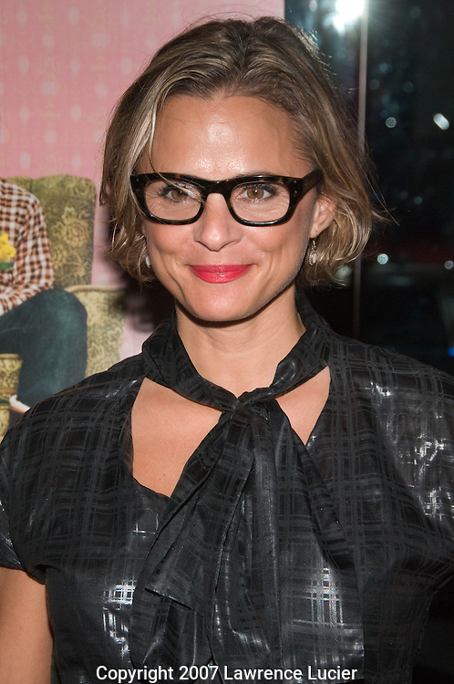"NEW YORK - OCTOBER 03:  Actor Amy Sedaris arrives at the New York screening of ""Lars And The Real Girl"" October 3, 2007, at the Paris Theater in New York City.  (Photo by Lawrence Lucier)"