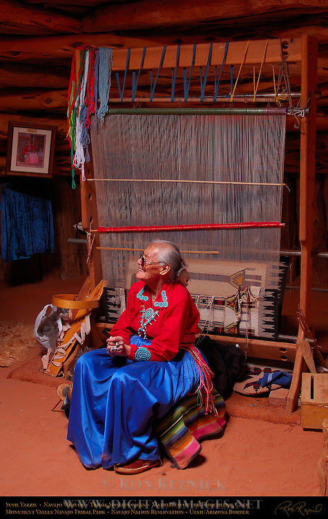 Susie Yazzie at her Loom, Matriarch of the Navajo Todicheenie Clan, Monument Valley Navajo Tribal Park, Navajo Nation Reservation, Utah/Arizona Border