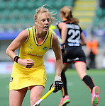 The Hague, Netherlands, June 05: Emily Hurtz #17 of Australia looks on during the field hockey group match (Women - Group A) between Belgium and Australia on June 5, 2014 during the World Cup 2014 at Kyocera Stadium in The Hague, Netherlands. Final score 2:3 (1:1) (Photo by Dirk Markgraf / www.265-images.com) *** Local caption ***