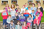 Pupils from Shrone NS, Rathmore who will be using Ipads this year in the education front row l-r: Padraig Murphy, Niamh Cremins, Sarah Lenihan. Second row: Ríain Murphy, Ciaran Fitzgerald, Niamh McSheery, Aoife Cremin, Aidan McAulliffe. Third row: Michael Twomey, Niall Lenihan, Donnagh Fitzgerald, Orla Cremin, James Twomey, Aaron Doherty, Michelle Cronin. Third row: Michelle Murphy Principal, Emily O'Mahony, Rachel Cremin, Rebecca Twomey, Sophie Nagle, Michelle Moynihan (LST), Carina O'Mahony, and Elaine Drumm teacher.
