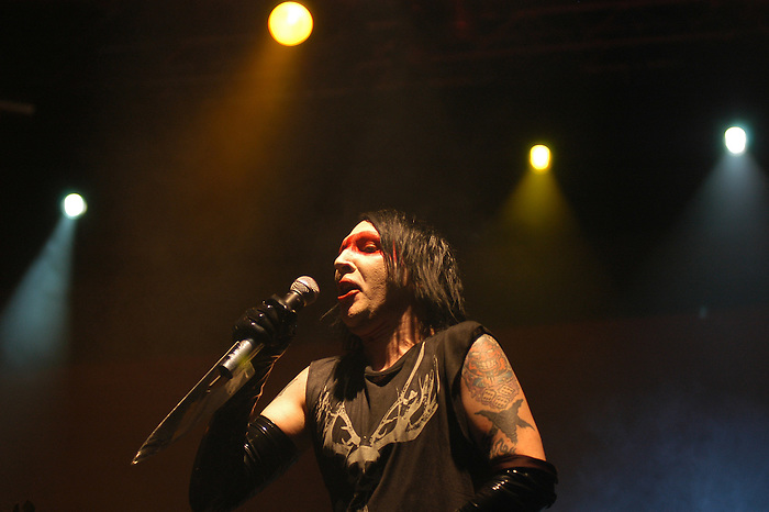 Rock musician Marilyn Manson performs at the Radar Live Festival in Istanbul, 2007. (Bora Ömerogullari/PressPhotoIntl.com)