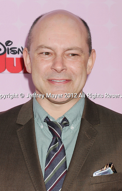 "BURBANK, CA - NOVEMBER 10: Rob Corddry arrives at the Disney Channel's Premiere Party For ""Sofia The First: Once Upon A Princess"" at the Walt Disney Studios on November 10, 2012 in Burbank, California."