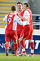 30/10/2010   Copyright  Pic : James Stewart.sct_jsp006_falkirk_v_dundee  .:: SEAN HIGGINS CELEBRATES AFTER HE SCORES DUNDEE'S SECOND:: .James Stewart Photography 19 Carronlea Drive, Falkirk. FK2 8DN      Vat Reg No. 607 6932 25.Telephone      : +44 (0)1324 570291 .Mobile              : +44 (0)7721 416997.E-mail  :  jim@jspa.co.uk.If you require further information then contact Jim Stewart on any of the numbers above.........
