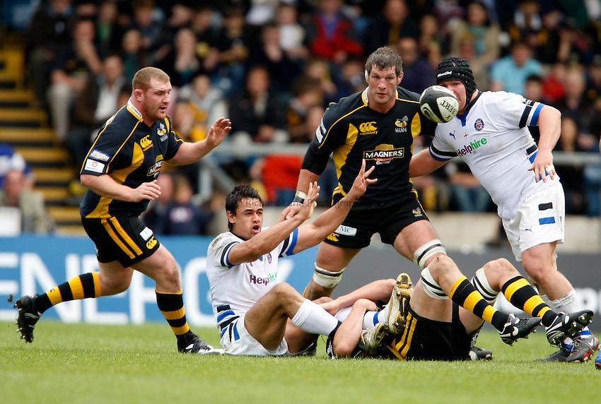 Photo: Richard Lane/Richard Lane Photography. .London Wasps v Bath Rugby. Guinness Premiership. 18/05/2008.