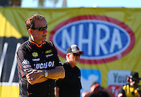 Mar 14, 2014; Gainesville, FL, USA; NHRA team owner and sponsor Forrest Lucas during qualifying for the Gatornationals at Gainesville Raceway Mandatory Credit: Mark J. Rebilas-USA TODAY Sports