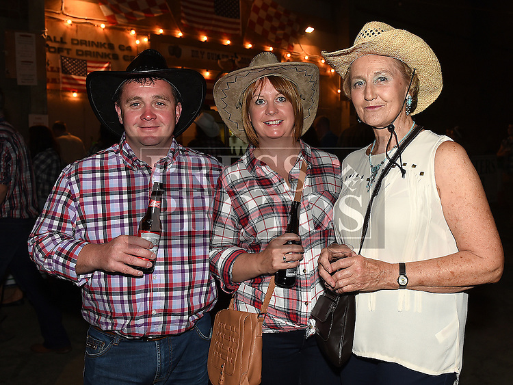 Niall and Mairead Lynch and Ann Bourton at the Oberstown Farm barn dance. Photo:Colin Bell/pressphotos.ie