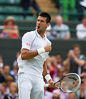 04-07-12, England, London, Tennis , Wimbledon,   Novak Djokovic