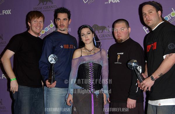 EVANESCENCE at the 2003 Billboard Music Awards at the MGM Grand, Las Vegas. .December 10, 2003