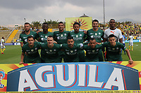 BOGOTÁ- COLOMBIA, 15-02-2018:Formación de La Equidad durante el partido entre La Equidad  y Atlético Bucaramanga   por la fecha 3 de la Liga Águila I 2018 jugado en el estadio Metropolitano de Techo . / Team of La Equidad  during match between La Equidad  and Atletico Bucaramanga   for the date 3 of the Aguila League I 2018 played at Metropolitano de Techo  stadium. Photo: VizzorImage/ Felipe Caicedo / Staff