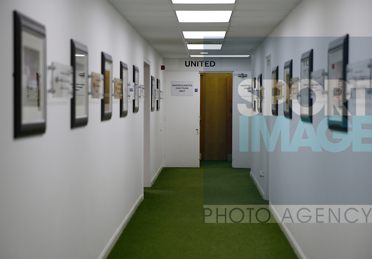 View towards the dressing room during the PDL U21 Final at Bramall Lane Sheffield. Photo credit should read: Simon Bellis/Sportimage