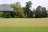 Jennifer Kupcho (USA) and Maria Fassi (MEX) walking onto the 18th green during the final  round at the Augusta National Womans Amateur 2019, Augusta National, Augusta, Georgia, USA. 06/04/2019.<br /> Picture Fran Caffrey / Golffile.ie<br /> <br /> All photo usage must carry mandatory copyright credit (© Golffile | Fran Caffrey)