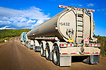 A large truck heading north on the Dalton Hwy, Arctic Alaska, Summer.