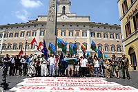 Roma, 2 Agosto 2018<br /> Manifestazione davanti il Parlamento delle comunità Sinti e Rom per protestare contro intolleranza e discriminazione e per ricordare la strage nazista del 2 Agosto 1944