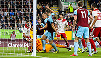 Burnley's Matej Vydra scores his side's first goal <br /> <br /> Photographer Alex Dodd/CameraSport<br /> <br /> UEFA Europa League - UEFA Europa League Qualifying Second Leg 2 - Burnley v Olympiakos - Thursday August 30th 2018 - Turf Moor - Burnley<br />  <br /> World Copyright © 2018 CameraSport. All rights reserved. 43 Linden Ave. Countesthorpe. Leicester. England. LE8 5PG - Tel: +44 (0) 116 277 4147 - admin@camerasport.com - www.camerasport.com