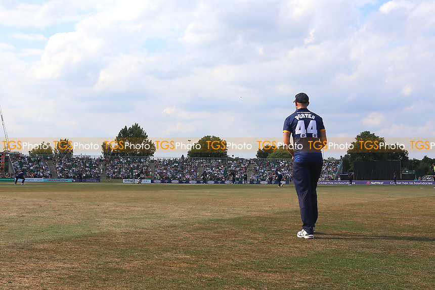 Jamie Porter of Essex fields by the boundary during Kent Spitfires vs Essex Eagles, NatWest T20 Blast Cricket at The County Ground on 9th July 2017