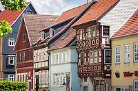 Germany, Thuringia, Schleusingen: half-timbered house in town centre | Deutschland, Thueringen, Schleusingen im Henneberger Land: Fachwerkhaeuser im Zentrum