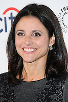 "HOLLYWOOD, LOS ANGELES, CA, USA - MARCH 27: Julia Louis-Dreyfus at the 2014 PaleyFest - ""Veep"" held at Dolby Theatre on March 27, 2014 in Hollywood, Los Angeles, California, United States. (Photo by Celebrity Monitor)"
