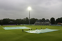 The covers come on as heavy rain stops plays during Kent Spitfires vs Essex Eagles, Royal London One-Day Cup Cricket at the St Lawrence Ground on 17th May 2017