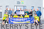 Munster and Kerry officials and players at the launch of the Munster Puc Fada hurling competition at the Centre of Excellence in Currans on Tuesday.