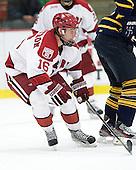 Alex Fallstrom (Harvard - 16) - The Harvard University Crimson and Quinnipiac University Bobcats played to a 2-2 tie on Saturday, November 5, 2011, at Bright Hockey Center in Cambridge, Massachusetts.