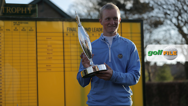 Marcus Kinhult (SWE) wins the Lytham Trophy after Sunday's Round 4 of the 2015 Lytham Trophy held at Lytham &amp; St.Annes Golf Club. 3rd May 2015.<br /> Picture: Lewis Pacelli www.golffile.ie
