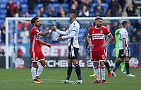 Bolton Wanderers and Middlesbrough's  at the end of todays match<br /> <br /> Photographer Rachel Holborn/CameraSport<br /> <br /> The EFL Sky Bet Championship - Bolton Wanderers v Middlesbrough - Saturday 9th September 2017 - Macron Stadium - Bolton<br /> <br /> World Copyright &copy; 2017 CameraSport. All rights reserved. 43 Linden Ave. Countesthorpe. Leicester. England. LE8 5PG - Tel: +44 (0) 116 277 4147 - admin@camerasport.com - www.camerasport.com