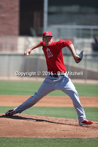 Kyle McGowin - Los Angeles Angels 2016 spring training (Bill Mitchell)