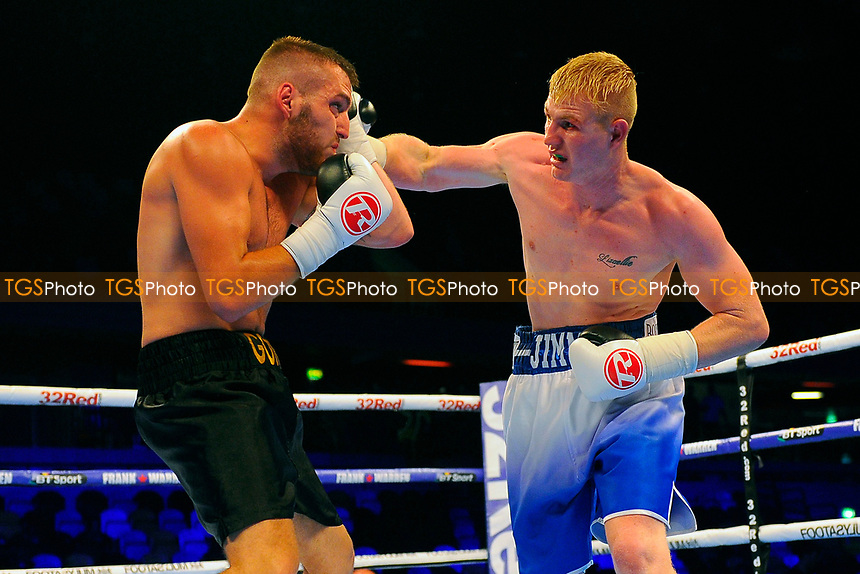 JD Smith defeats Christian Hoskin Gomez during a Boxing Show at the Copper Box Arena on 8th July 2017
