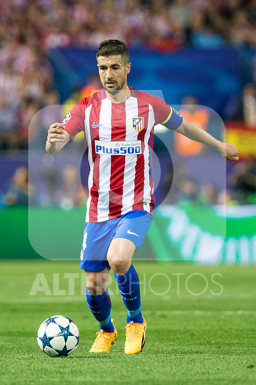 Gabi Fernandez of Atletico de Madrid  during the match of  Champions LEague between  Atletico de Madrid and LEicester City Football Club at Vicente Calderon  Stadium  in Madrid, Spain. April 12, 2017. (ALTERPHOTOS / Rodrigo Jimenez)